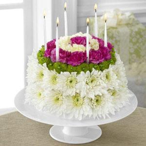 The FTDR Wonderful WishesTM Floral Cake D2 4896